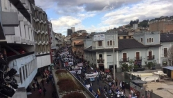 Masses in Quito, Ecuador, are calling against privatization of public institutions, and violations against workers' communities.